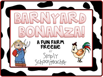Barnyard Bonanza! A Fun Farm FREEBIE