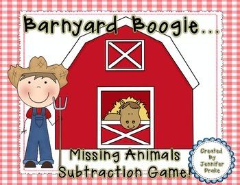 Barnyard Boogie...Missing Farm Animals Subtraction Game! File Folder Game & More