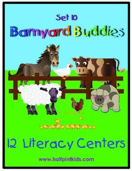 Barnyard Buddies Literacy Centers: Half-Pint Readers Set 10