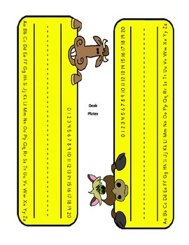 Barnyard Dancing Animals Theme packet