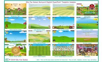 Barnyard English PowerPoint Game Template-An Original by ESL Fun Games