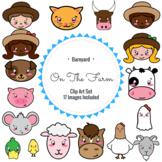 Barnyard Farm Clip Art Set of 17 Images