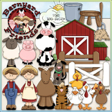 Barnyard Friends - CU Clip Art & B&W Set