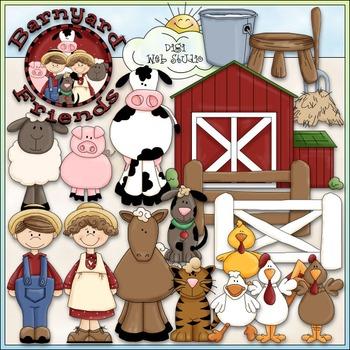 Barnyard Friends Clip Art - Farm Animals Clip Art - CU Cli