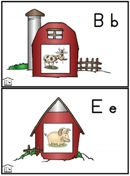 Barnyard Fun alphabet activity set