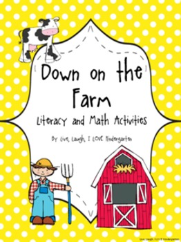 Barnyard Fun- Down on the Farm Literacy and Math Activities
