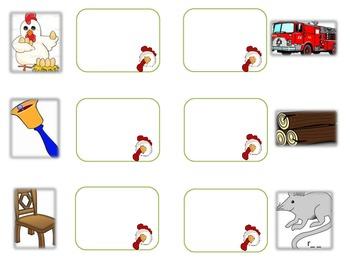 Barnyard Matching Rhyme Literacy Station Game