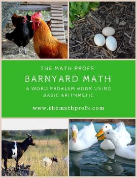 Barnyard Math--a word problem book using basic arithmetic