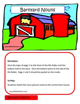 Barnyard Nouns - File Folder Game