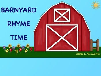 Barnyard Rhyme Time - An Interactive Rhyming Activity for the SmartBoard