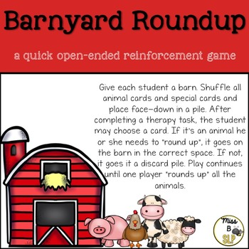 Barnyard Roundup! A quick open-ended reinforcement game