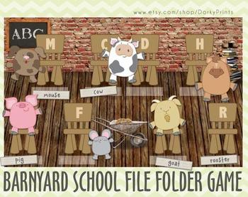 Barnyard School Printable File Folder Game