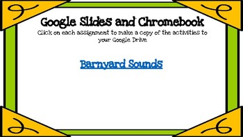 Barnyard Sounds-A Digital Literacy Center (Compatible with Google Apps)