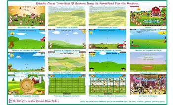 Barnyard Spanish PowerPoint Game Template-An Original by Ernesto