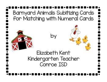 Barnyard Subitizing Cards 1-20