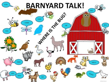 "Reading Sentences ""Barnyard Animals"" (Talking Game)"