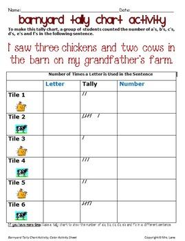 Barnyard Tally Chart Activity