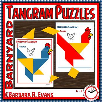 TANGRAMS Farm Tangram Puzzles Math Center Problem Solving Critical ...