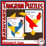 TANGRAMS PUZZLES Farm Theme Math Center Problem Solving Critical Thinking