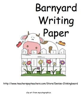 Barnyard Writing Paper