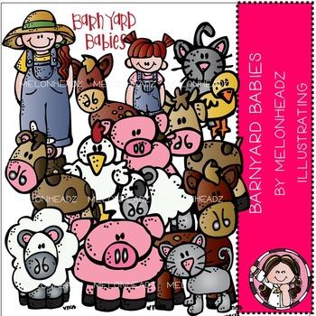 Melonheadz: Barnyard babies clip art