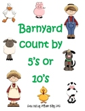 Barnyard counting by fives or tens