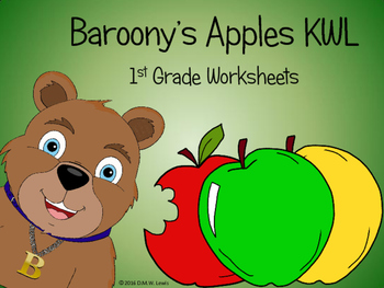 Baroony's Apples KWL: 1st Grade Worksheets