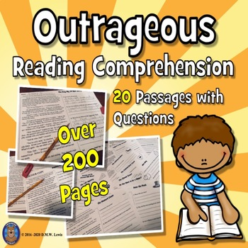 20 Summer Reading Comprehension Passages: Funny Reading Comprehension