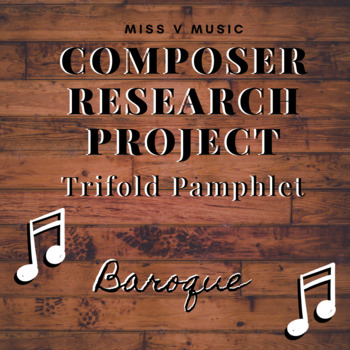 Baroque Composer Research Project (Brochures)