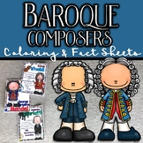 Baroque Composers Coloring and Fact Sheets