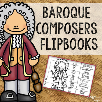 Baroque Composers Flipbooks