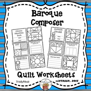 Baroque Composers Quilt Worksheets