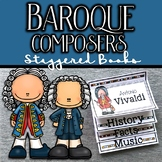 Baroque Composers Staggered Books