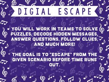 Baroque Music Themed Digital Classroom Escape