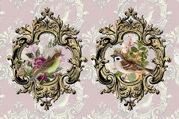Baroque Royal Birds Digital Paper