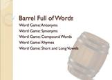 Barrel Full of Words Figurative Language Literacy Games