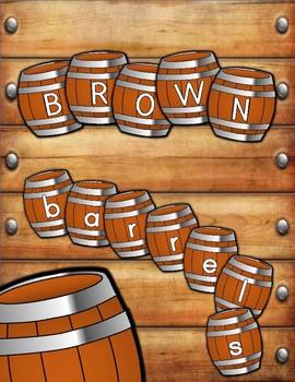 Barrel Letter Decorations