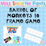 Barrel of Monkeys 10 Frame Activity