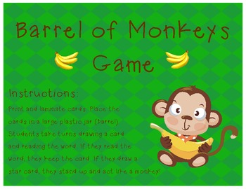 Barrel of Monkeys Game