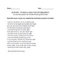 Barrett Browning  - How Do I Love Thee - Fun worksheet & A