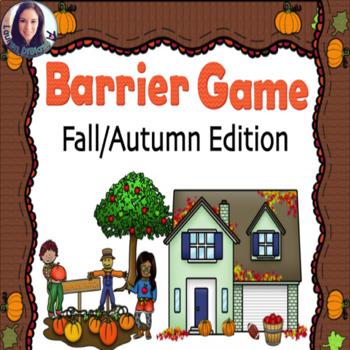 Barrier Game - Build a Fall/Autumn Scene