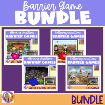 Barrier Game Bundle: Language, Articulation, directions & auditory memory