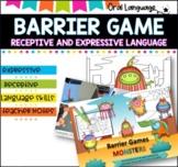 Barrier Game- MONSTER THEME.
