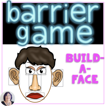 Describe and Direct with Barrier Games  Build-A-Face in Speech therapy
