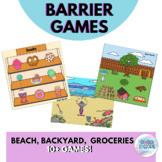 Barrier Games {Grocery Store, Beach, Backyard}