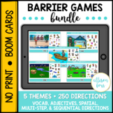 Barrier Games Bundle BOOM Cards™️ Speech Therapy Distance