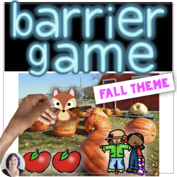 Barrier Games for Seasons Fall  giving and following directions speech therapy