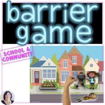 Barrier Games Set 3 Following & Giving Directions Game for Speech Therapy