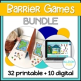 Barrier Games Speech Therapy GROWING BUNDLE
