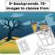 Barrier Games for Halloween for Receptive and Expressive Language Skills